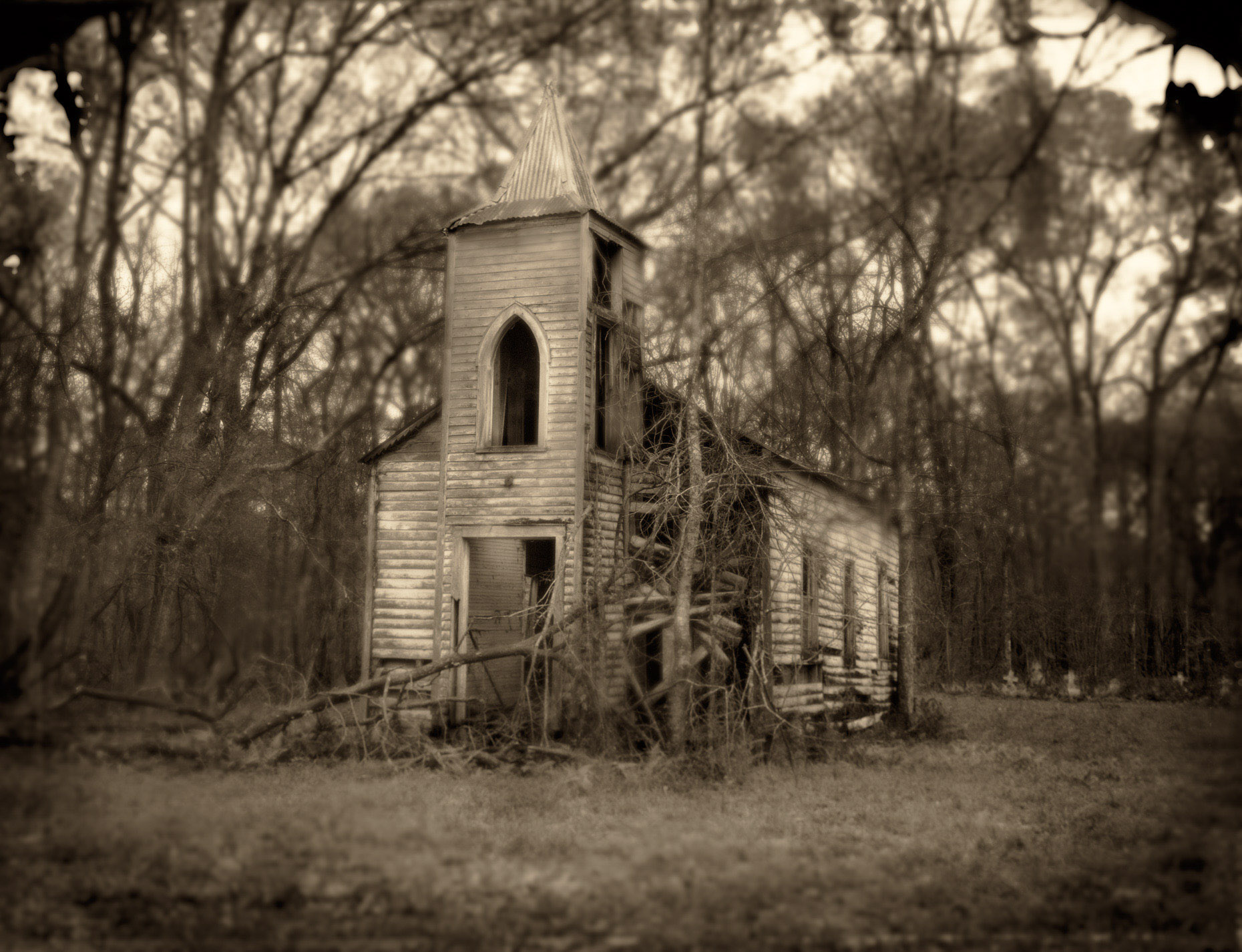 """Abandoned Church"", Louisiana"