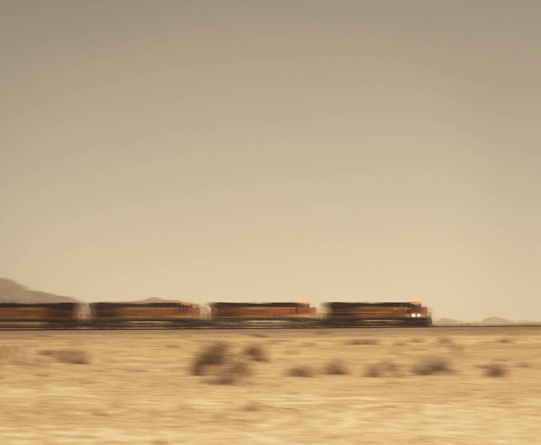 """Desert Train"". Mohave Desert, California, 2014"