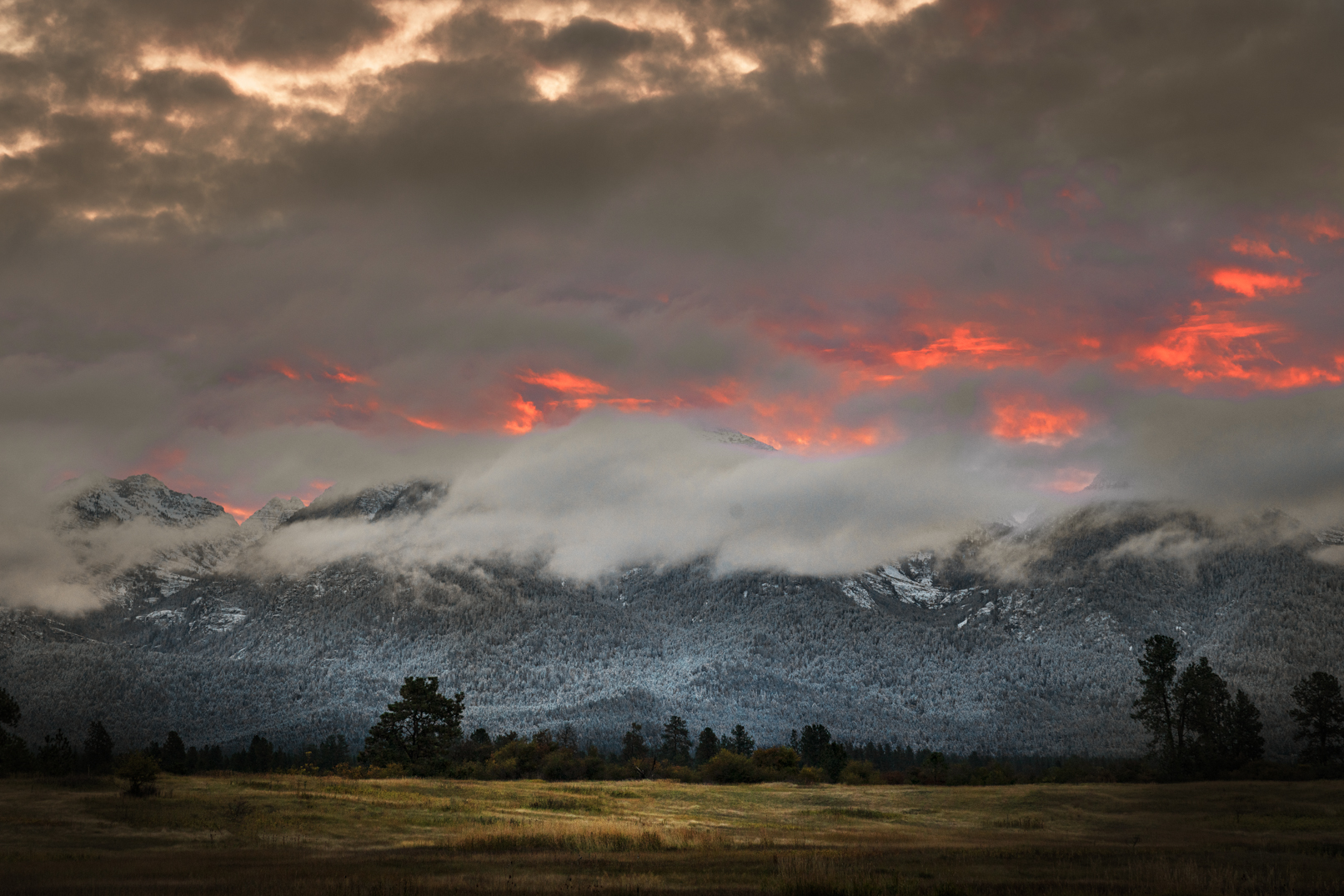 Mission Mountains Dawn, Montana