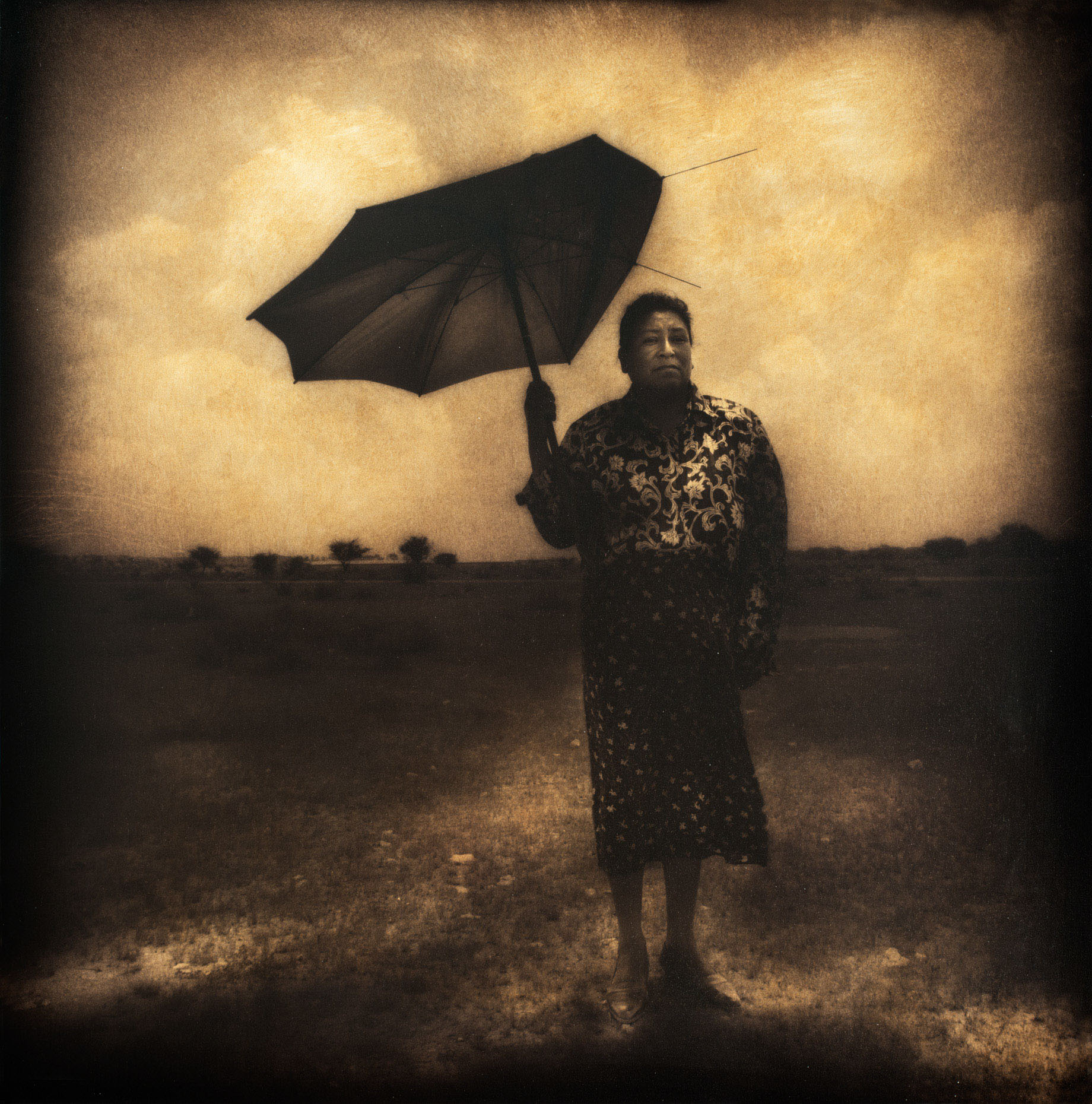 woman w broken umbrella3